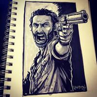 Inktober Day 13: Walking Dead by DerekLaufman