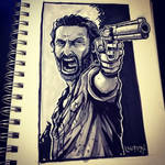 Inktober Day 13: Walking Dead