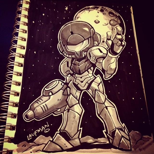 Inktober Day 24: Metroid! by DerekLaufman