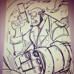 Hellboy - Warmup Sketch
