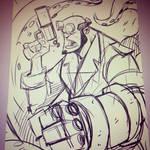 Hellboy - Warmup Sketch