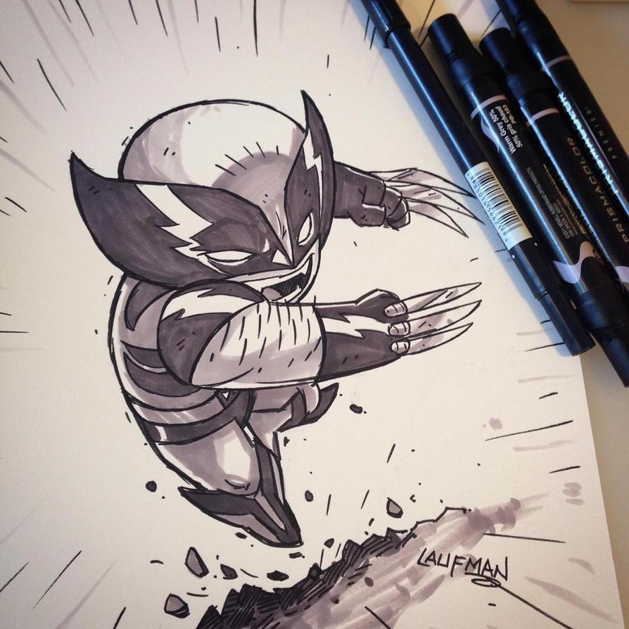 Commission - Wolverine by DerekLaufman