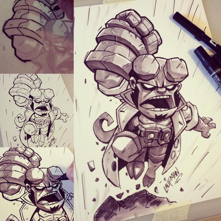 Chibi - Hellboy by DerekLaufman