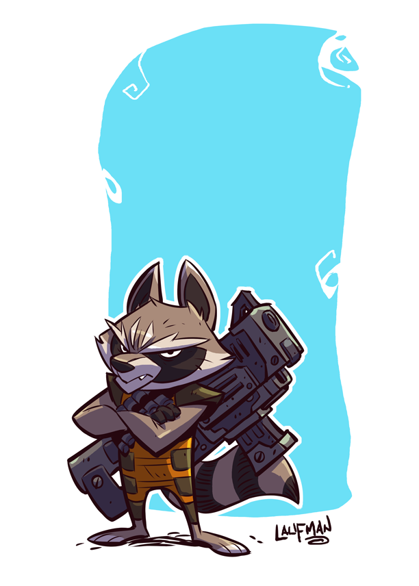 Rocket Raccoon by DerekLaufman