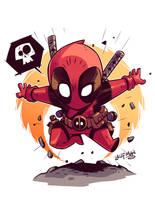 Chibi Deadpool! by DerekLaufman