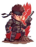 Chibi Solid Snake by DerekLaufman