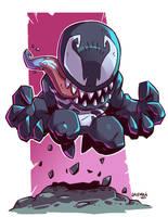 Chibi Venom by DerekLaufman