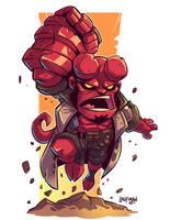 Chibi Hellboy by DerekLaufman