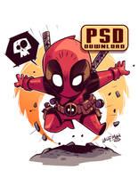 Chibi Deadpool PSD by DerekLaufman