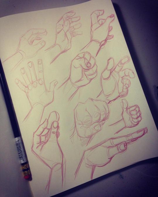 Sketchbook Hands 01 by DerekLaufman