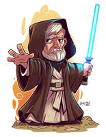 Chibi Obi Wan by DerekLaufman