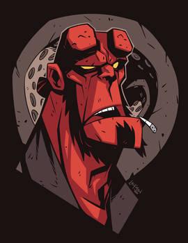 Hellboy Head Sketch