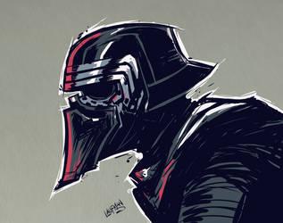 Kylo Ren Sketch by DerekLaufman