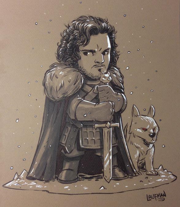 Jon Snow and Ghost by DerekLaufman