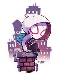Chibi Spider-Gwen by DerekLaufman