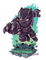 Chibi Black Panther by DerekLaufman