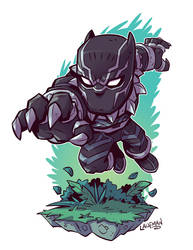 Chibi Black Panther by DerekLaufman