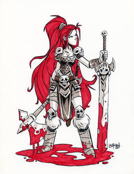 Inktober Day 20 - Red Sonja
