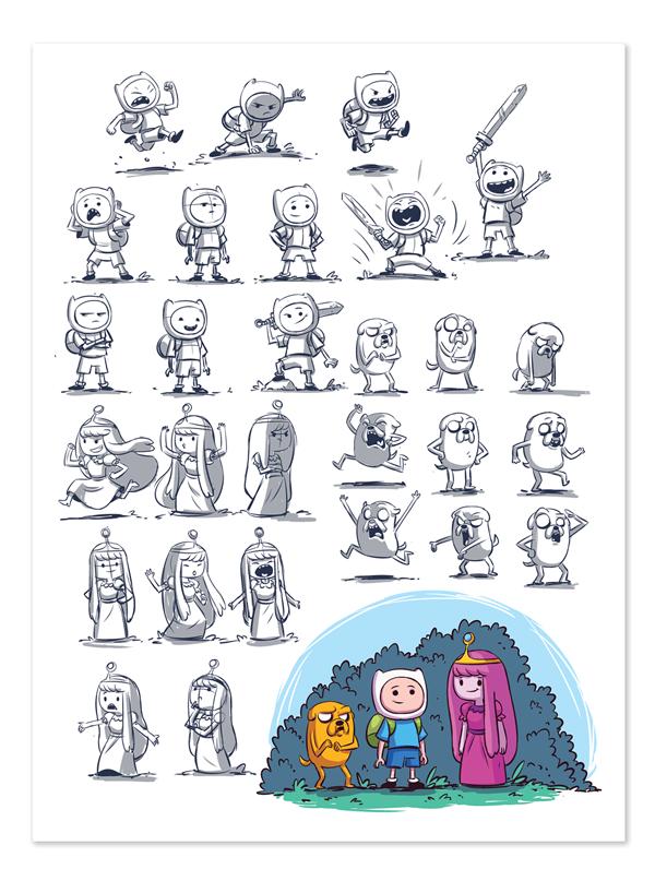 Adventure Time sketches by DerekLaufman