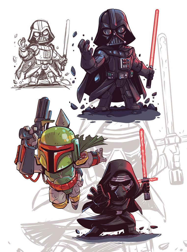 Star Wars Chibis by DerekLaufman