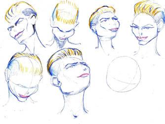 Portrait study by Marcher