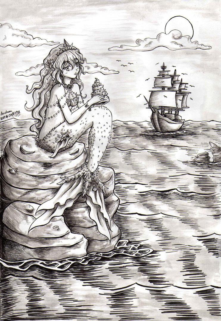 Mermaid - Resting by ArichanKizuna