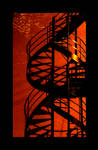 red shadow stairs
