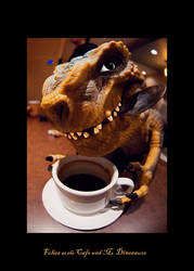 Cafe with Mr. Dinosaure by amok451
