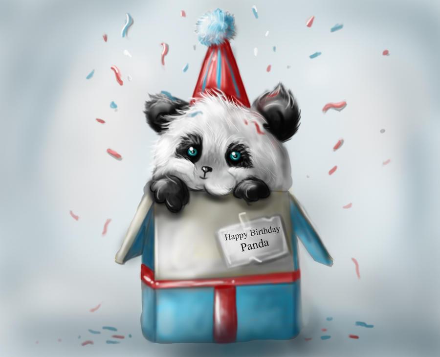 Поздравление с днем рождения панда