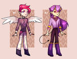 ANGEL AND DEMON BOYS AUCTION (closed)