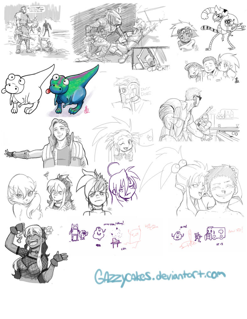 pchat Sketch dump by Gazzycakes