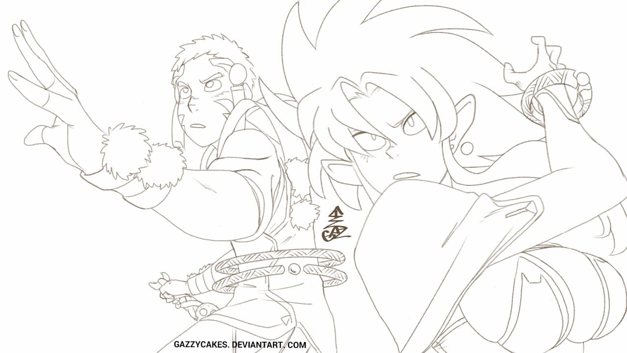 Tenchi battle WIP by Gazzycakes