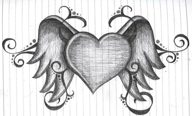 heart with wings by amanda11404 on deviantart rh amanda11404 deviantart com heart with wings drawings step by step heart with wings drawing easy