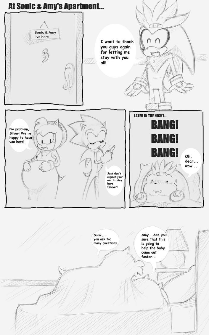 Shadow X Sonic Mpreg Sonic got Amy Pregnant...