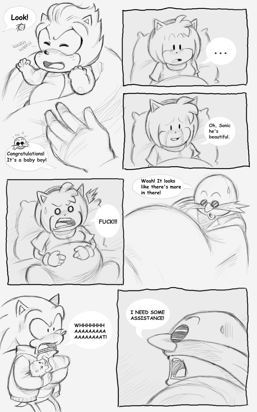 Sonic got Amy Pregnant Pg 41 by sonicxamy09 on DeviantArt