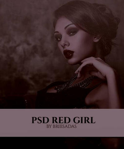 PSD RED GIRL by Annapinhr