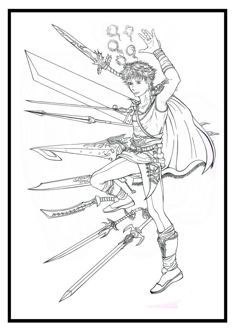 Final Fantasy V:  Bartz Lines by Marvolo-san