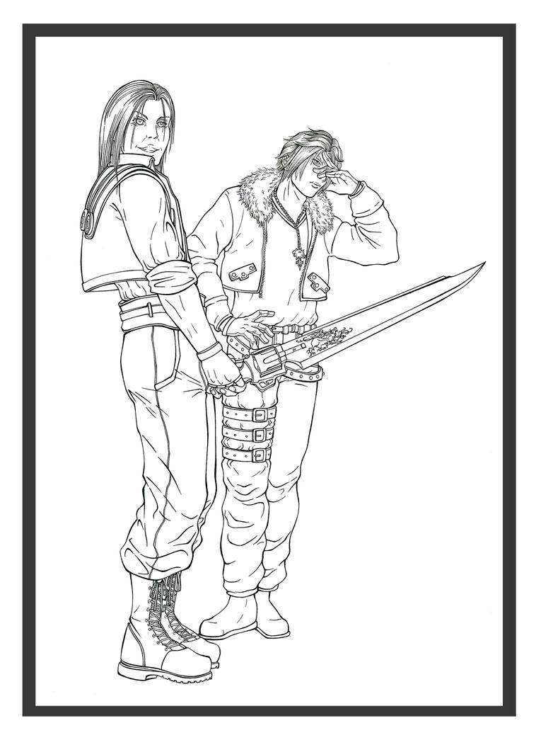Final Fantasy VIII: Laguna and Squall LINES by Marvolo-san