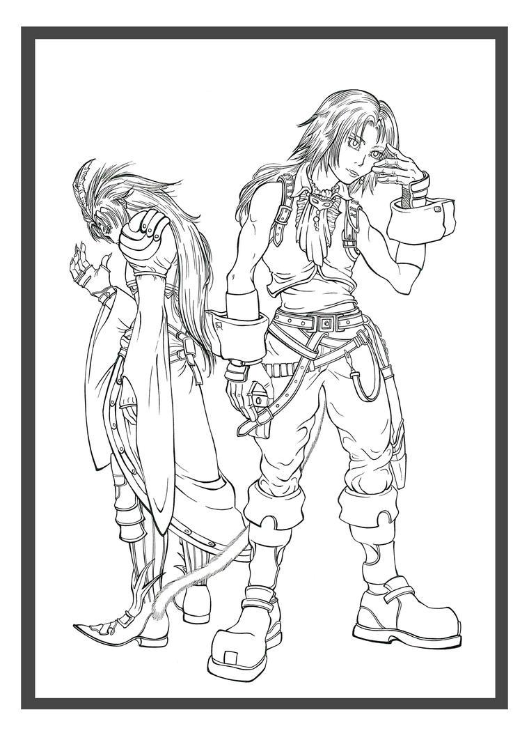 Final Fantasy IX: Zidane and Kuja Lines by Marvolo-san