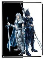 Final Fantasy IV: Cecil Harvey, Kain Highwind by Marvolo-san