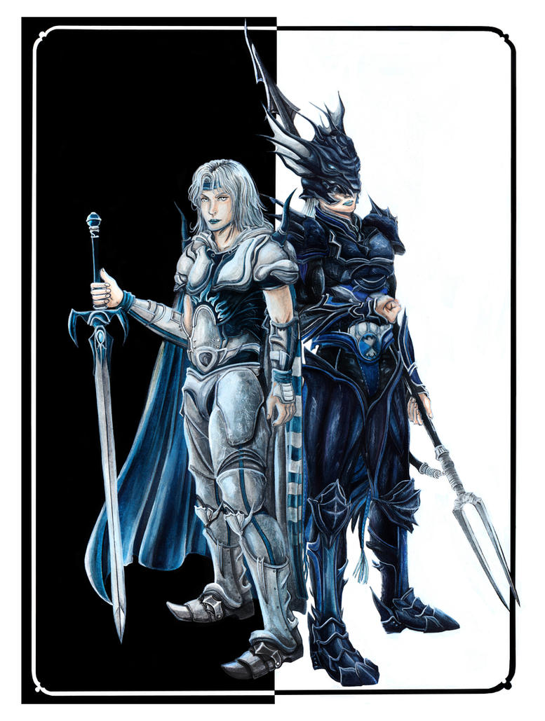 Final fantasy cecil and kain