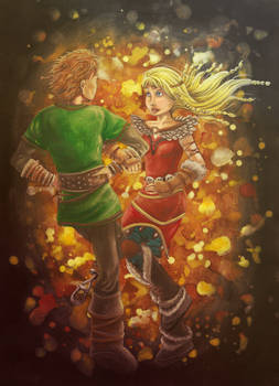 Hiccup and Astrid dance