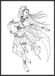 Shiva  FFVII Remake Sketch