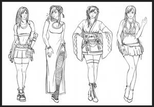 Tifa - all the dresses lines