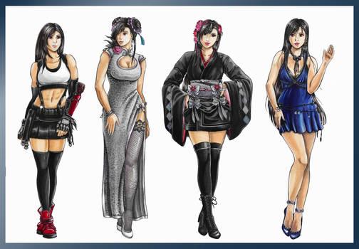 Tifa - all the dresses