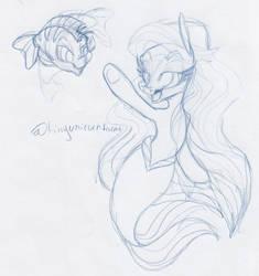 ArielPonySketch by TinyUnicornFarm