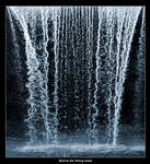 Behind the falling water