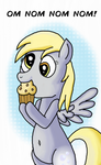 Derpy Hooves eating a muffin