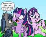 M.A. Larson faces an Angry Twilight Sparkle