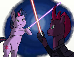 Twilight Sparkle vs Tempest Shadow: Lightsabers by daimando